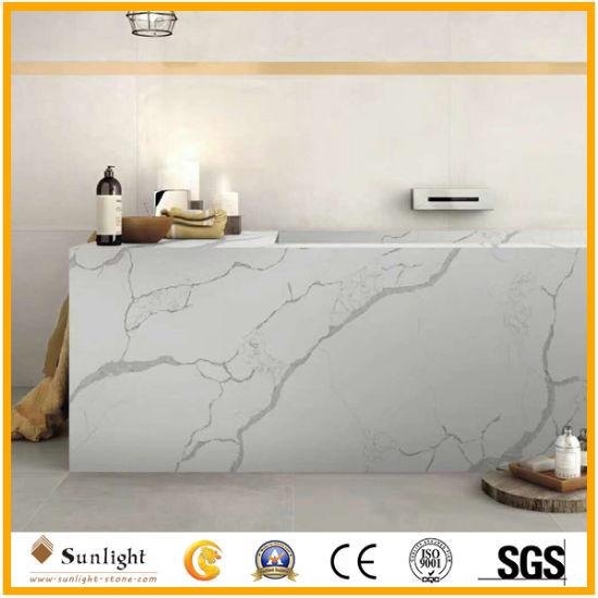 kitchen tabletops bookcase china high quality polished white quartzite artificial calacatta quartz stone worktops bar tops table