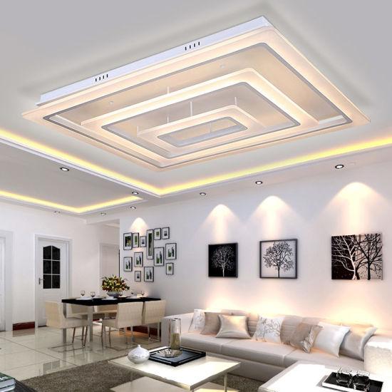 Rectangular Led Ceiling Light For Living Room Modern Lighting For Indoor Decoration China Ceiling Lights Led Ceiling Lights Made In China Com