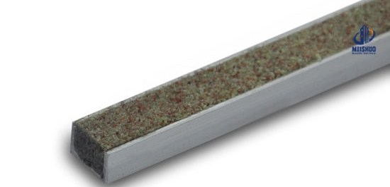 China Outdoor Composite Stair Treads Nosing With Carborundum   Outdoor Composite Stair Treads   Stone   Framed   Outside   Ready Made   Blocking