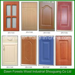Mdf Kitchen Cabinet Doors Distressed Cabinets China Pvc Membrane Door Customized Design Pictures Photos