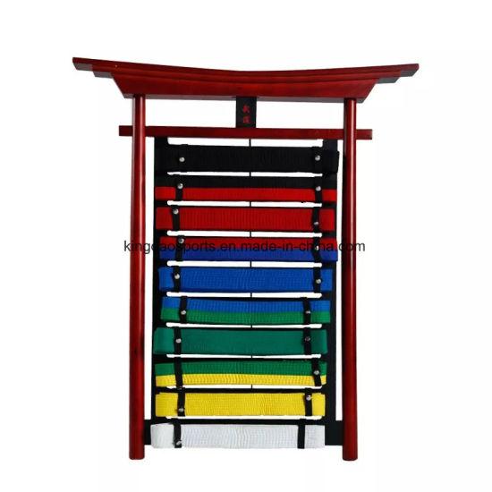 china wooden martial arts belt display