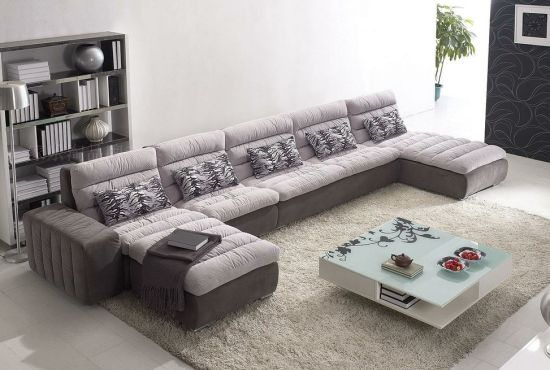 apartment sized furniture living room large wall clocks chinese combination sofa hotel modern corner upholstery fabric glms 029