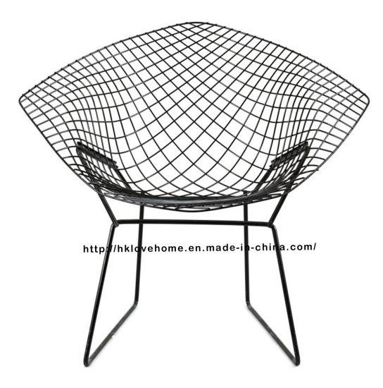 diamond chair replica yume massage china modern dining restaurant knock down steel wire
