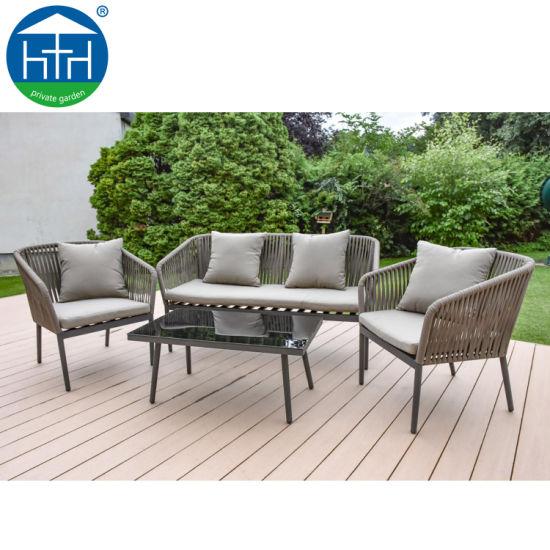 morden patio furniture rope sofa set
