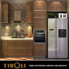 Small Kitchen Tv Green Cabinet Doors China Inexpensive Cabinets With Melamine Finish Kitchens 0033