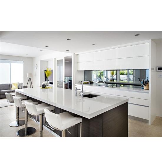 construction material kitchen island design modular kitchen cabinet for sale