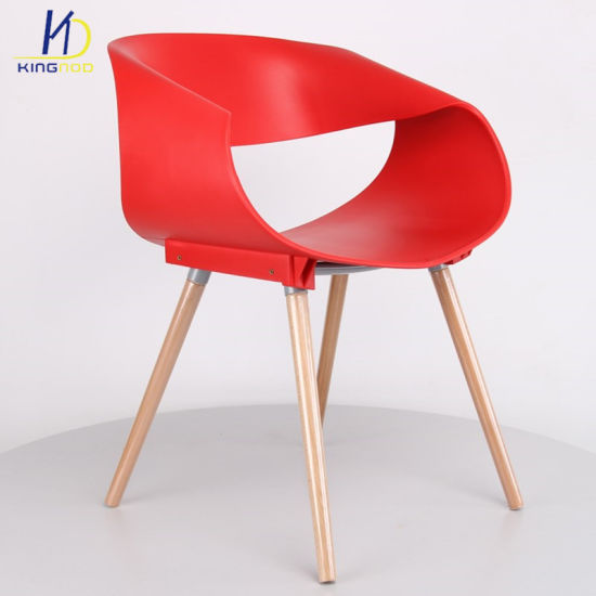 modern plastic chair gym ball uk china new design wood leg leisure for sale