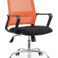 Durable Office Chairs Comfy For Small Spaces China Furniture Staff Mesh Chair With Chrome Steel Base Lsm M9024
