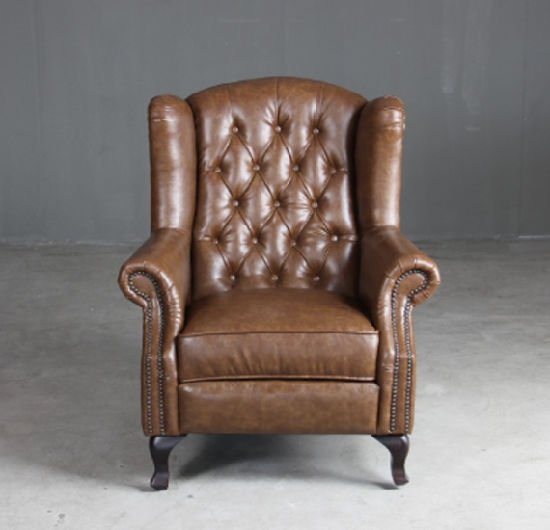 China Chesterfield Queen Anne Wingback Armchair High Back
