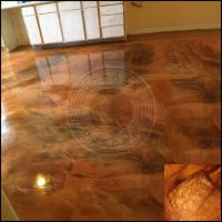 Painted Resin Floors - Mid After Application Of Resin ...