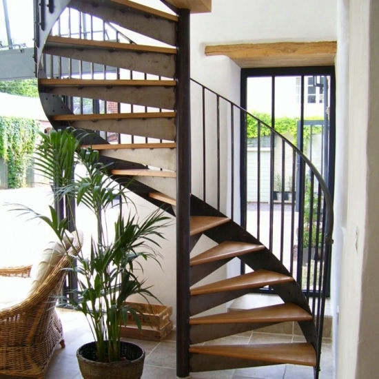 Hot Sale Wrought Iron Spiral Staircase Price China Fencing   Iron Spiral Staircase For Sale   Round   Abandoned   Antique   Grey Exterior   Loft