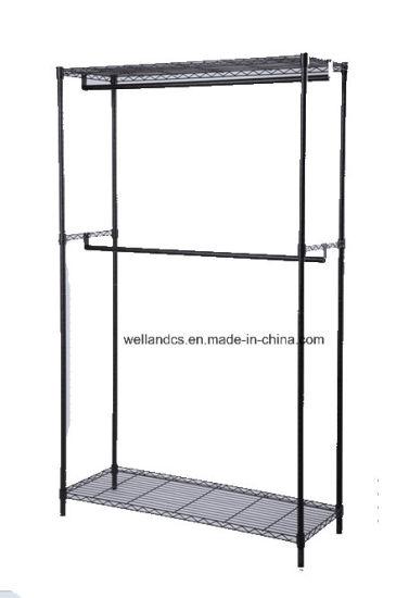 china black metal garment clothes rack