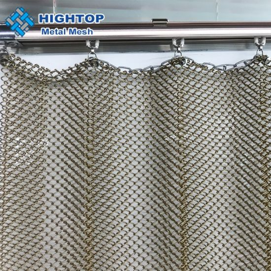 wire mesh shower curtain silver shiny metallic curtains