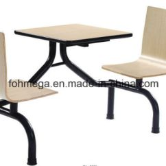 Two Seater Garden Table And Chairs Baby Girl High China School Canteen Connected Chair Set Foh Cbc04
