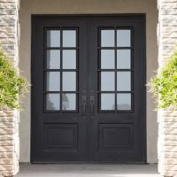 China French Style Wrought Iron Double Entry Door - China ...