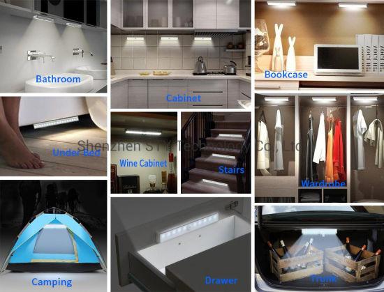 under cabinet led lighting kitchen under counter light pir sensor switch closet light strips cupboard wardrobe lamp