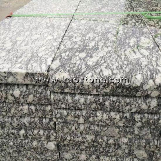 Polished Spray Wave White Granite Slabs