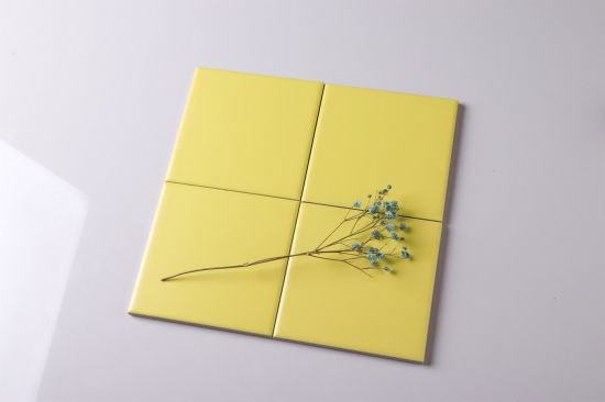 4 4 matt yellow ceramic tile 100x100 bathroom tile backsplash tile interior tile