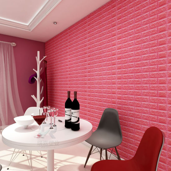 3d self adhesive wallpaper faux foam real bricks effect wall tiles wall panels for tv walls sofa background bedroom kitchen living room