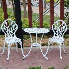 All Weather Garden Chairs Dental Chair With Accessories China 3 Pieces Outdoor Patio Cast Aluminum Furniture Table
