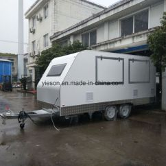 Kitchen Trailers Aid Professional 6000 Hd China Concession Trailer Fast Food Caravan For Sale