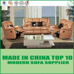 Electric Sofa Set Chill Interio China Wholeale Factory Price Manual Leather Sectional Recliner Pictures Photos