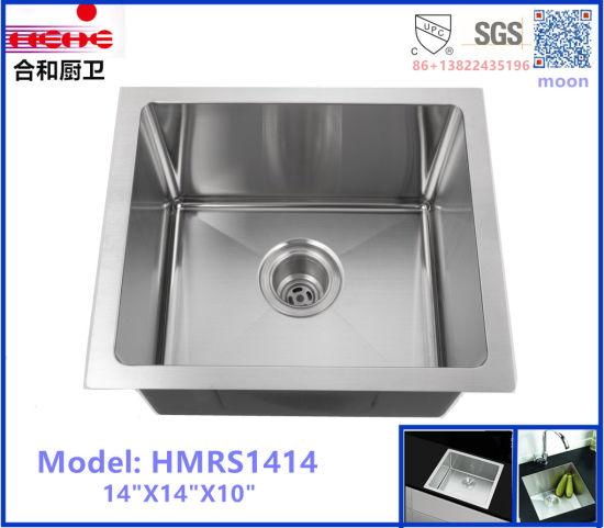 square kitchen sink cafe wall decor china r10 radius undermount single stainless steel handmade