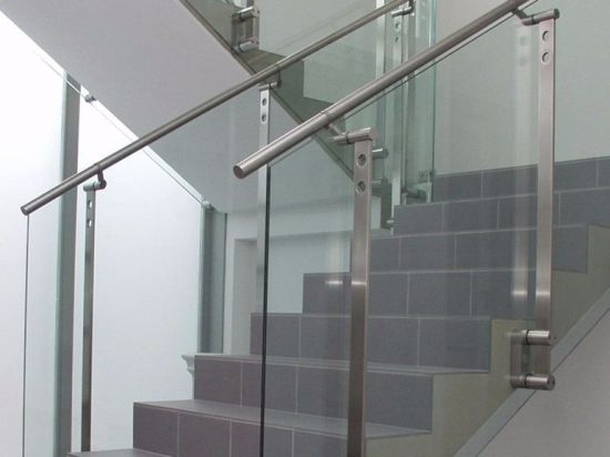 China Tempered Glass Staircase Railing Handrail China Glass | Tempered Glass Stair Railing | Made Glass | Wood | Step | Indoor | Glass Design