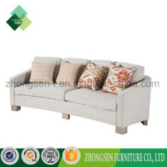 Custom Made Living Room Furniture Decorating With Dark Wood Floors China Professional Modern Simple Style Unique White Fabric 3 Seats Sofa Of