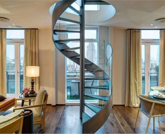 China Modern Indoor Prefabricate Stainless Steel Glass Spiral   Glass Spiral Staircase Cost   Laminated Glass Railing   Stair Railing   Stainless Steel   Prefabricate Stainless   Low Cost