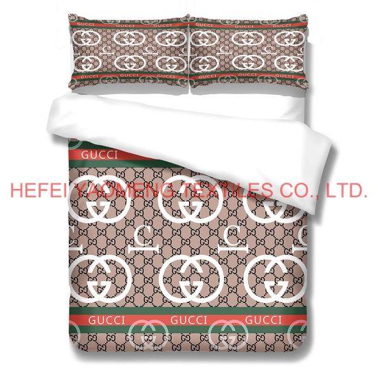 3d high definition bedsheets printing bedding bedsheets duvet case pillow case lv chanel fendi household textiles beddings