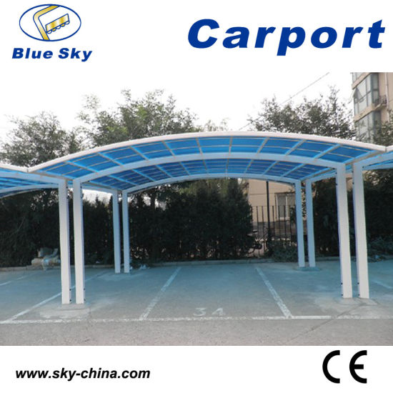 China Double Car Parking Metal Carport With Pc Roof China