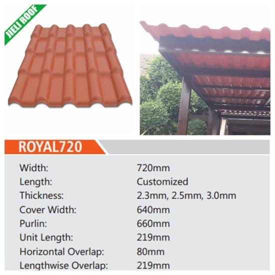 hot item spanish type resin roof tile sheet panel for villa