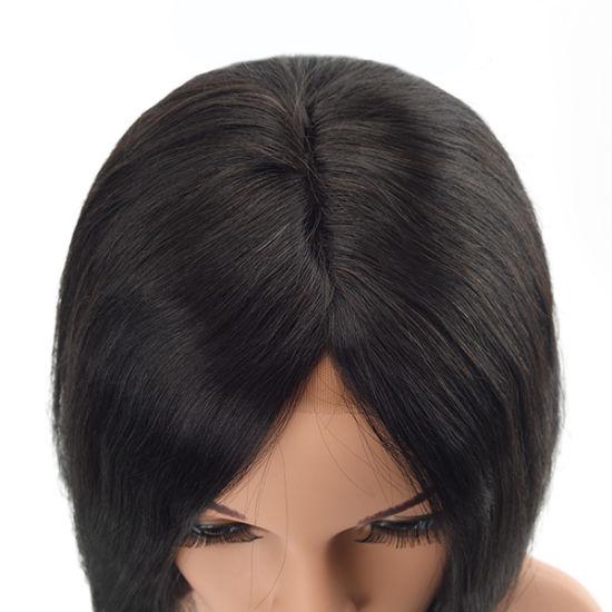 China Black Color Bob Style Women Natural Hair Toupee China Hair