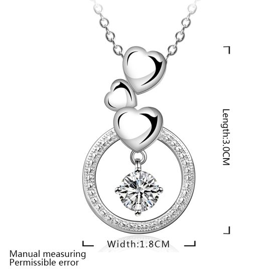 China Foreign Trade Sales Heart Shape Round Zircon Pendant
