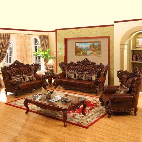 luxury leather living room sets blue and brown decorating ideas sofa set for furniture 525 china