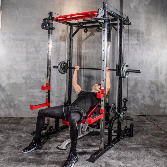 128kg smith machine steel squat rack gantry frame fitness home comprehensive training device free squat bench press frame