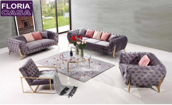 chesterfield style fabric sofa decorating around leather sofas china modern living room hotel floria casa