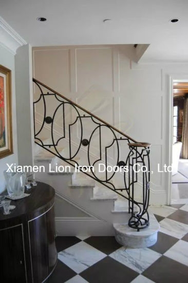 China Best Wrought Iron Stair Railing Modern Iron Railing Designs   Best Stair Railing Design   Stainless   Outside   Staircase   Simple   Handrail