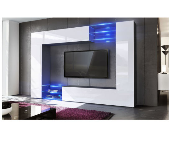 black high gloss living room furniture pier one ideas china set mirage wall tv unit