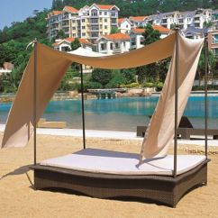 Canopy Daybed Outdoor Wicker Sun Sofa Lounge Air In India China Patio Garden Lounger Rattan Day Bed Tg Jw100