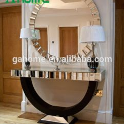 Living Room Console Tables Mirrored Yellow And Gray Decorating Ideas China Furniture Table With Wall Mirror
