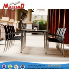 Dining Chairs With Stainless Steel Legs Fishing Chair Sale Uk China High Quality Set And Outdoor Dubai Tables Furniture