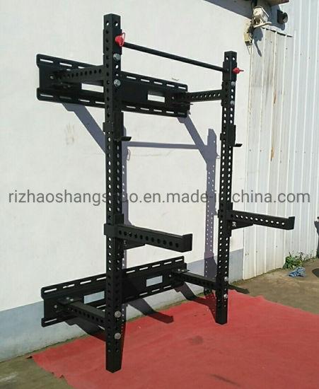 wall mount folding squat power rack