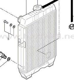 China Volvo Excavator Radiator Pj7418486 for Ec13 Ec15