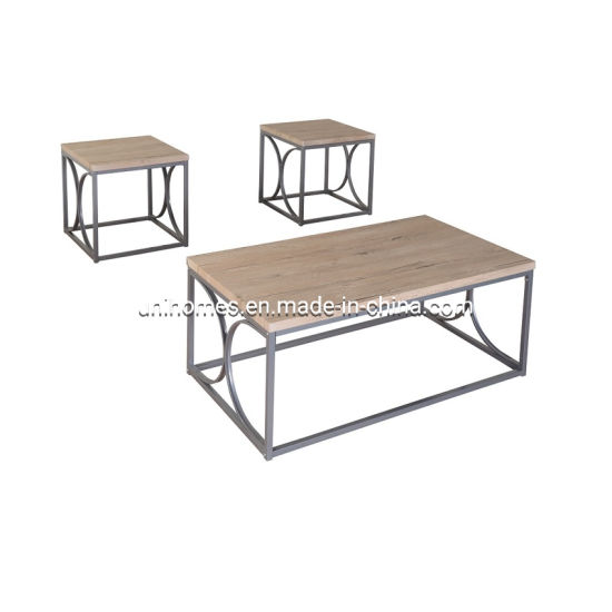 uni homes modern lightweight coffee accent table living room furniture lounge set w 2 end tables beige black