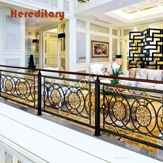 China Black And Gold Wrought Iron Stair Railing Panels For   Black Iron Pipe Stair Railing   Staircase Railing   Industrial Style   Deck   Steel Pipe   Reclaimed Wood
