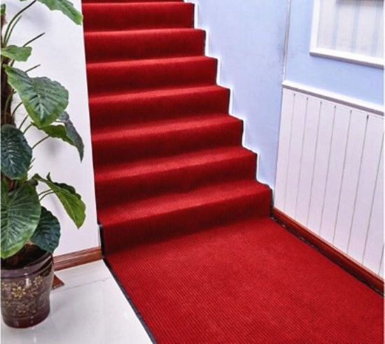 China Non Slip Stripe Carpet For Stair Tread Carpet Red Stair   Non Slip Stair Treads For Carpeted Stairs   Walmart   Skid Resistant   Basement Stairs   Indoor Stair   Slip Resistant