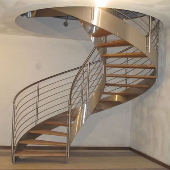 China Best Price Curved Glass Staircases With Bent Glass Railing | Glass Banisters For Stairs Price | Floating Staircase | Railing | Stair Railing Systems | Stainless Steel | Stair Case