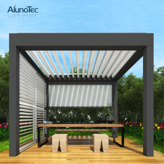 china pergola retractable awning aluminum louver supplier dongguan aluno industry co ltd